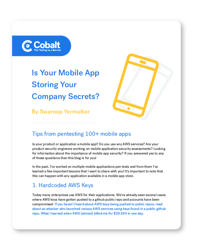 Is Your Mobile App Storing Your Company Secrets?