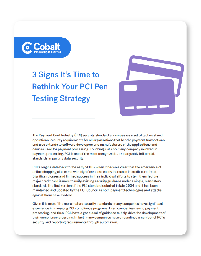 Rethink your PCI Pen Testing Strategy